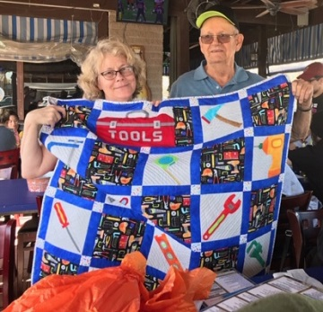 Dad's Tool Quilt by Sharon of Ms P Designs USA