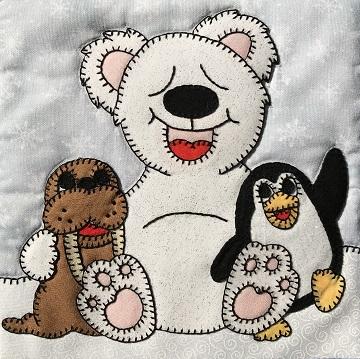 Polar Bear Walrus Penguin Friends by Ms P Designs USA