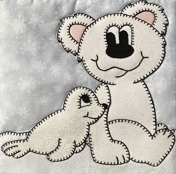 Polar Bear and Sea Lion Friends by Ms P Designs USA