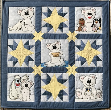 Polar Pals Quilt by Ms P Designs USA