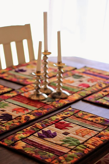 autumn leaves table runner and place mat set by ms p designs usa
