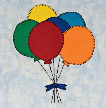 Balloon Bunch Applique by Ms P Designs USA