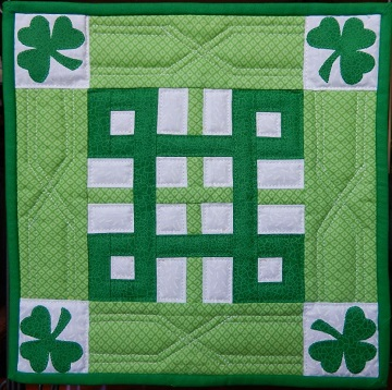 celtic knot miniature quilt by ms p designs usa