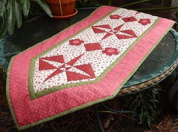 crossed canoes table runner by ms p designs usa