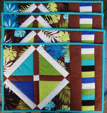 easy pieced x place mat set by ms p designs usa