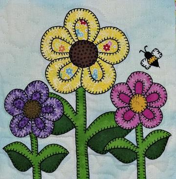 flower garden applique by ms p designs usa