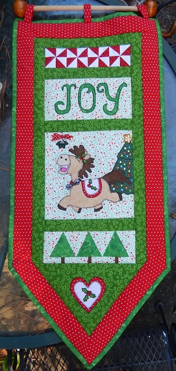 holiday horse christmas banner by ms p designs usa