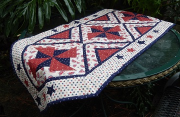 pinwheel table runner by ms p designs usa