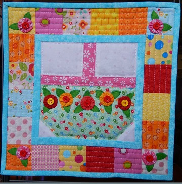 spring basket miniature quilt by ms p designs usa