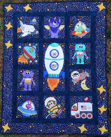 space race quilt by ms p designs usa