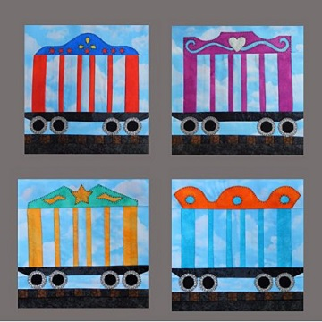 Circus Trains by Ms P Designs USA