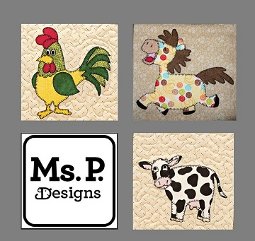 Farm animal pattern set by Ms P Designs USA