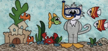 Scuba Kitty by Ms P Designs USA