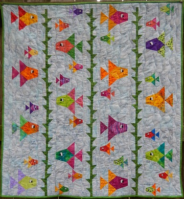 Something Fishy Quilt by Ms P Designs USA