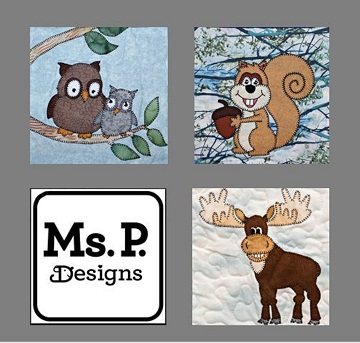 woodland forest animals by Ms P Designs USA
