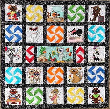 Kool Kitties Quilt by Ms P Designs USA