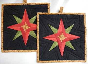 Mariner's Star hot pads by Ms P Designs USA
