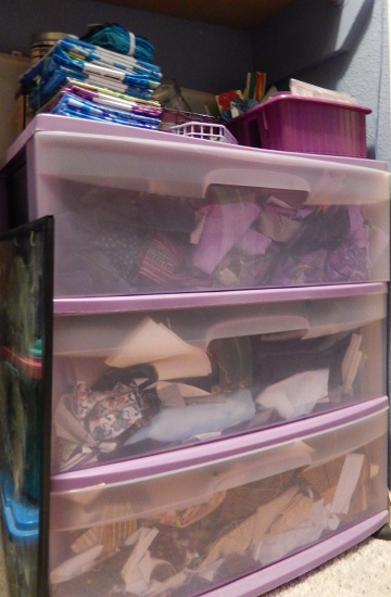 Fabric scrap storage 1 by Sharon @ Ms P Designs USA