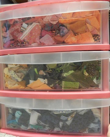 Fabric scrap storage 2 by Sharon @ Ms P Designs USA