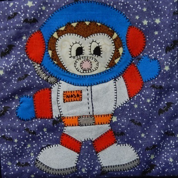 Astronaut Hedgehog by Ms P Designs USA
