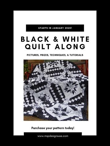 Black and White Quilt Along by Ms P Designs USA