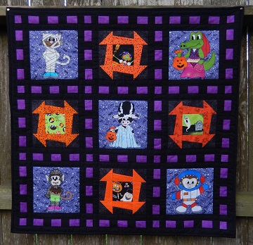 "Halloween Quilt 2019 ""Something Spooky This Way Comes"" by Ms P Designs USA"