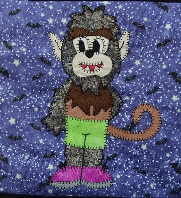 Werewolf Monkey by Ms P Designs USA