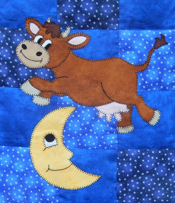 Cow and Moon by Ms P Designs USA