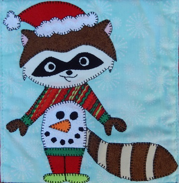 Ugly Sweater Raccoon by Ms P Designs USA