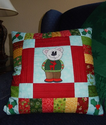 Bear Pillow by Ms P Designs USA