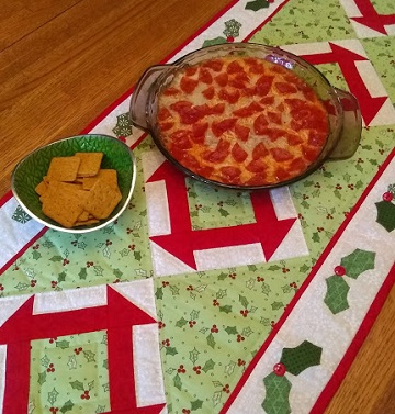 Christmas party Pizza Dip by Ms P Designs USA