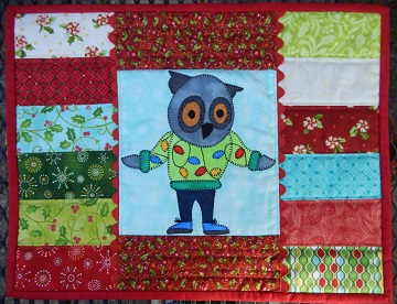 Owl Place Mat by Ms P Designs USA