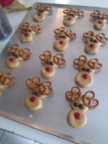 Peanut Butter Reindeer Cookies by Ms P Designs USA