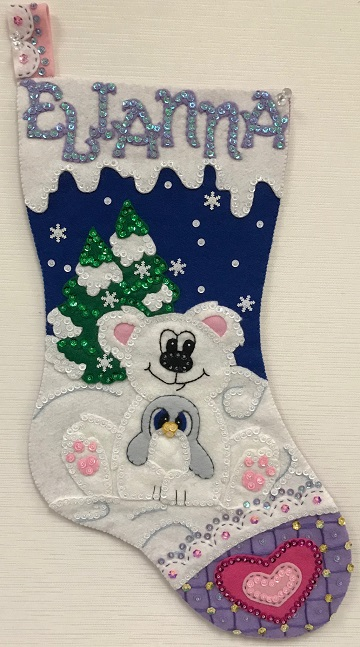 Polar Pals Stocking by Ms P Designs USA