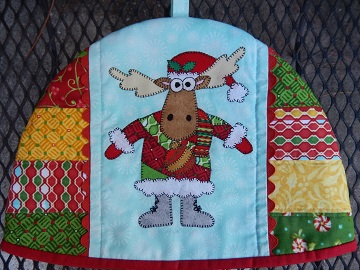 Tea Cozy with Moose by Ms P Designs USA