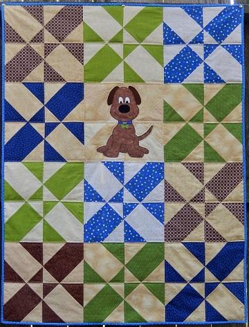 Big Puppy Quilt by Ms P Designs USA