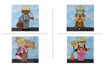 Construction Workers by Ms P Designs USA