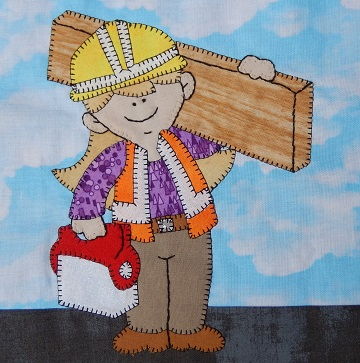 Construction Worker by Ms P Designs USA