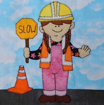 Road worker by Ms P Designs USA
