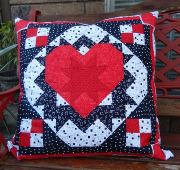 Star in Heart Pillow by Ms P Designs USA