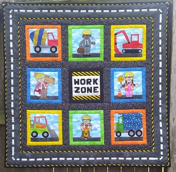 Under Construction Quilt by Ms P Designs USA