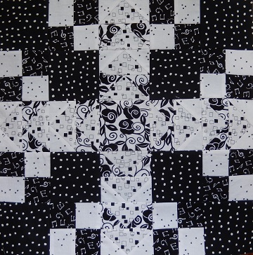 Wild Goose Chase Block for Black and White Delight by Ms P Designs USA