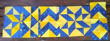 Blue and Gold Blocks by Sharon @ Ms P Designs USA