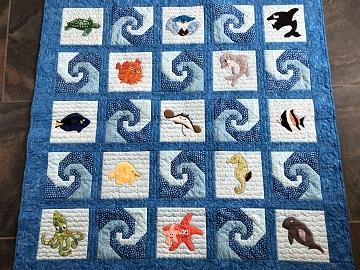 Ocean quilt by Linda V