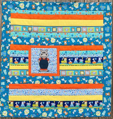 Strippy Hippo Quilt by Ms P Designs USA