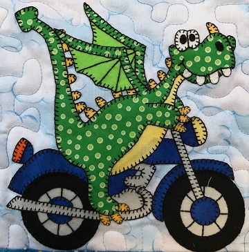 Dragon's Motorcycle by Ms P Designs USA