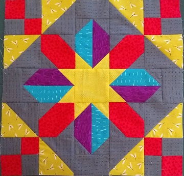 Quilt Block A by Sharon @ Ms P Designs USA