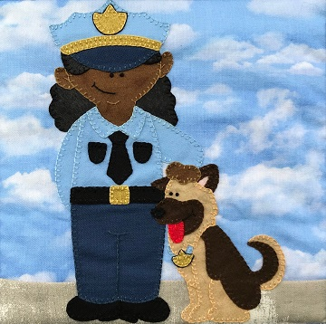 K-9 Officer by Ms P Designs USA