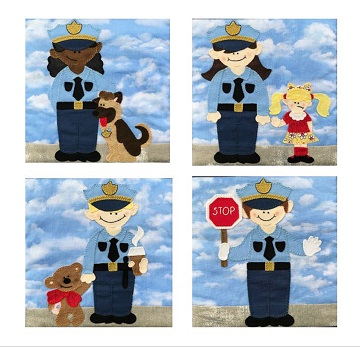 My Hero Police Officers Set by Ms P Designs USA