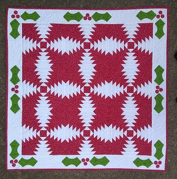Pineapple Quilt Finish by Sharon @ Ms P Designs USA